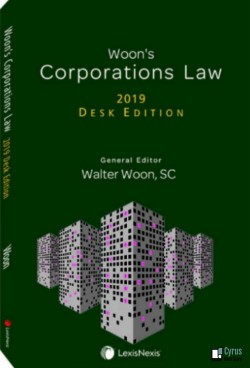 Woon's Corporations Law – 2019 Desk Edition